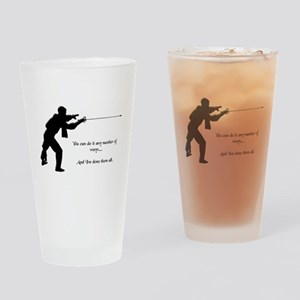 Fencing Style 1 Drinking Glass