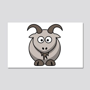 Cartoon Goat 22x14 Wall Peel