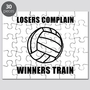 Volleyball Winners Train Puzzle