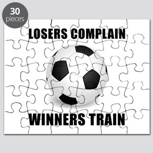 Soccer Winners Train Puzzle