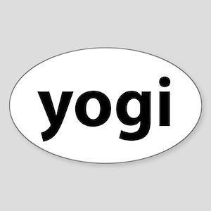 Yogi Sticker (Oval)