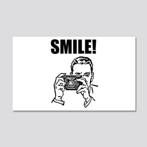 Vintage Camera Smile 22x14 Wall Peel