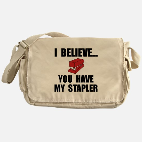 My Stapler Messenger Bag