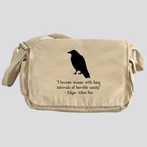 Edgar Allen Poe Quote Messenger Bag