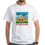 Tropical Vacations White T-Shirt