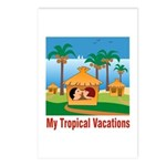 Tropical Vacations Postcards (Package of 8)