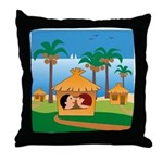 Tropical Vacations Throw Pillow