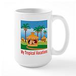 Tropical Vacations Large Mug
