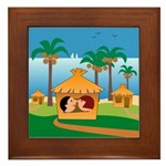 Tropical Vacations Framed Tile