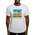 Tropical Vacations Ash Grey T-Shirt