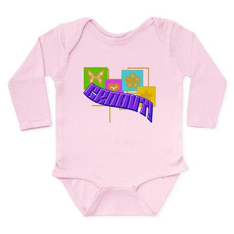 Groovy Long Sleeve Infant Bodysuit