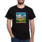 Tropical Vacations Black T-Shirt