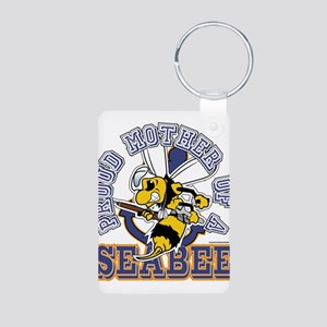 SeaBee Mother t-shirt Aluminum Photo Keychain