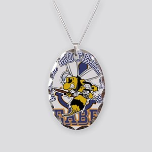 SeaBee Mother t-shirt Necklace Oval Charm