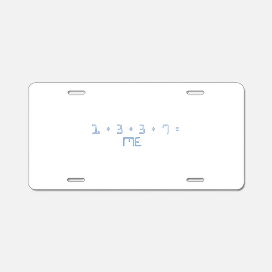 1337 = ME Aluminum License Plate