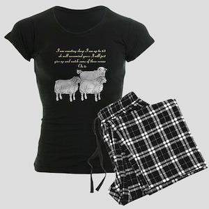 Women's Dark Pajamas,counting sheep then watching