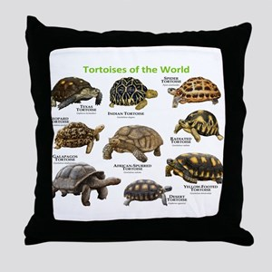 Tortoises of the World Throw Pillow