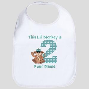 2nd Birthday Monkey Bib