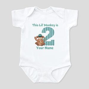 2nd Birthday Monkey Infant Bodysuit