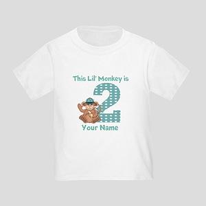 2nd Birthday Monkey Toddler T-Shirt