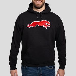Greyhound Outline multi color Hoodie (dark)
