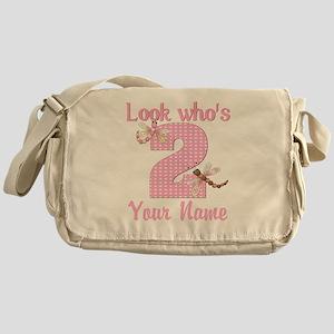 2nd Birthday Dragonfly Messenger Bag