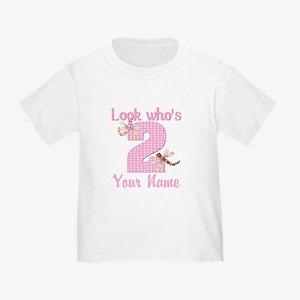 2nd Birthday Dragonfly Toddler T-Shirt