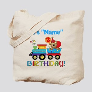 2nd Birthday Bear Train Tote Bag