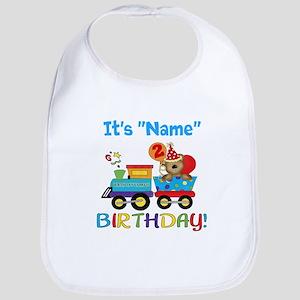 2nd Birthday Bear Train Bib