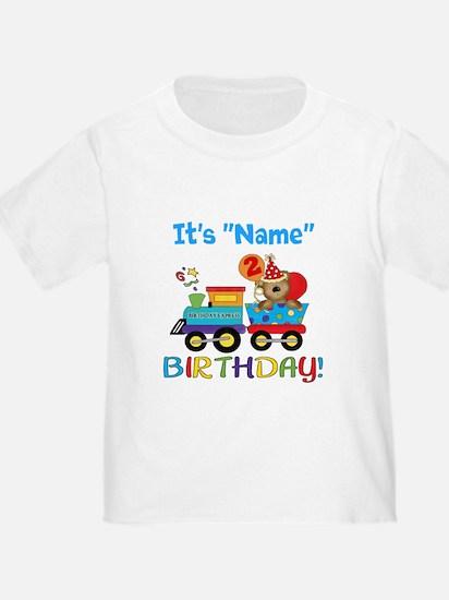 2nd Birthday Bear Train T