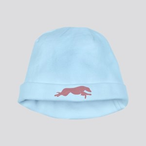 Greyhound Outline multi color baby hat