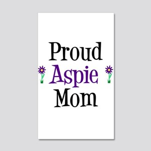 Proud Aspie Mom 20x12 Wall Decal