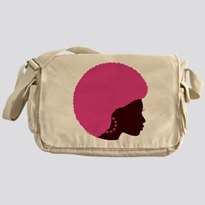 Pink Afro Messenger Bag