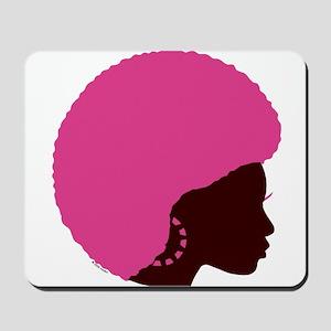 Pink Afro Mousepad