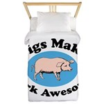 Pigs Make Pork Awesome Twin Duvet