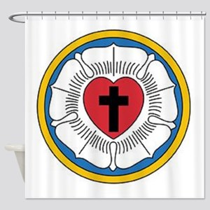 Luther's Rose Shower Curtain
