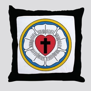 Luther's Rose Throw Pillow