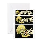 L'Absinthe c'est la mort II Greeting Cards (Packag