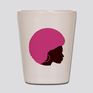 Pink Afro Shot Glass