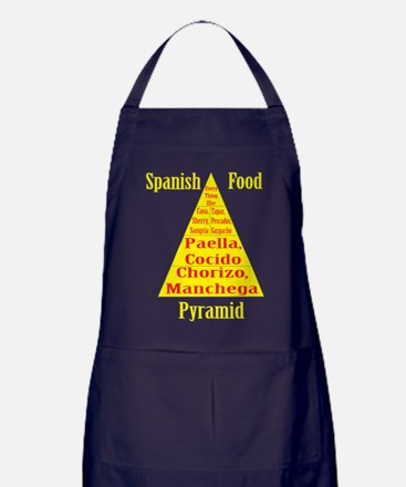 Spanish Food Pyramid Apron (dark)