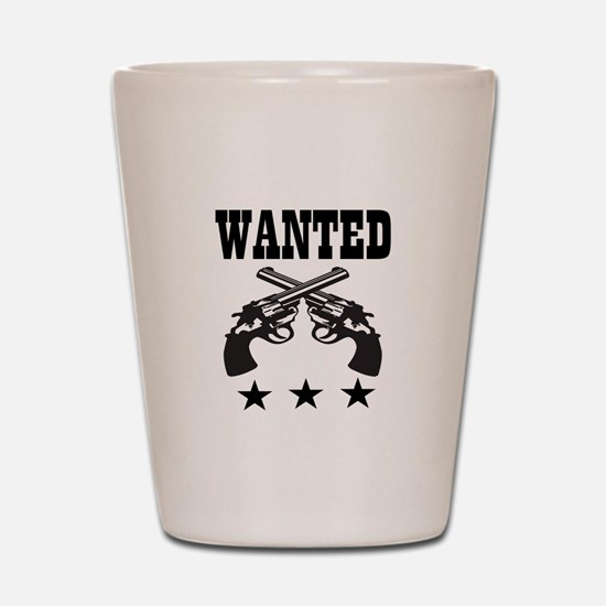 WANTED Shot Glass
