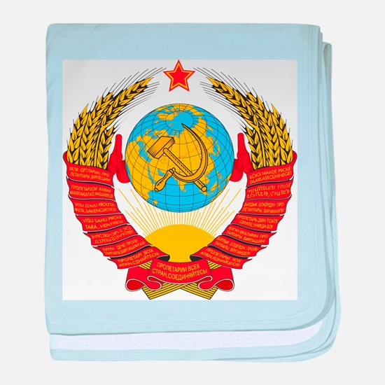 CCCP Coat Of Arms baby blanket