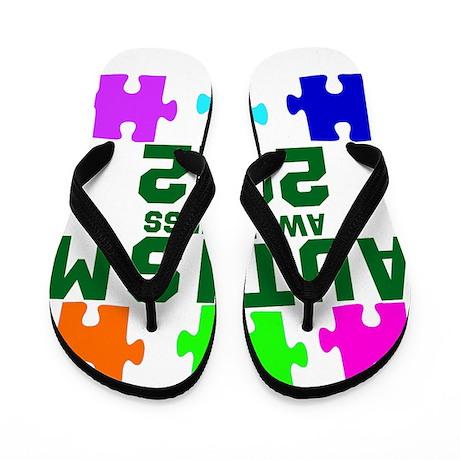 Autism Awareness 2012 Flip Flops