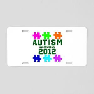 Autism Awareness 2012 Aluminum License Plate