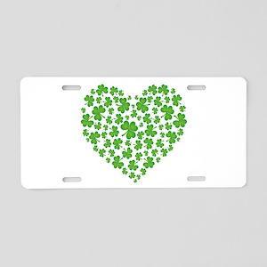 Irish Heart Aluminum License Plate