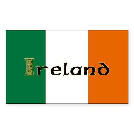 Irish Flag / Eire Rectangle Sticker