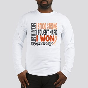 Survivor 4 Uterine Cancer Long Sleeve T-Shirt
