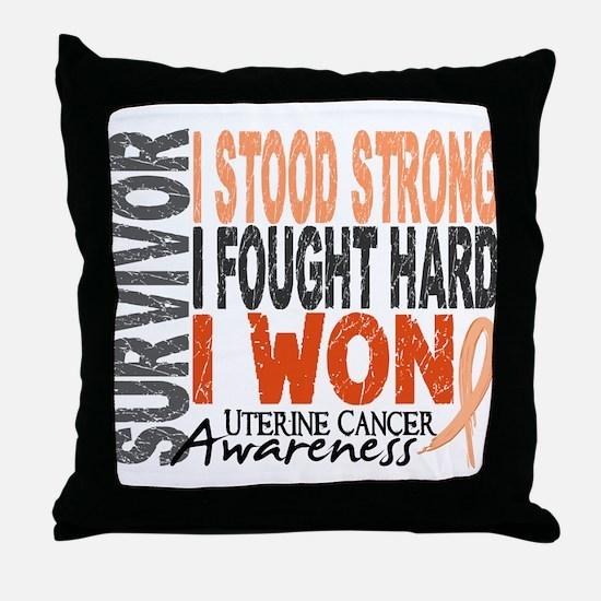 Survivor 4 Uterine Cancer Throw Pillow