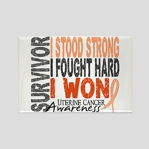 Survivor 4 Uterine Cancer Rectangle Magnet