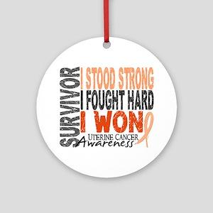Survivor 4 Uterine Cancer Ornament (Round)